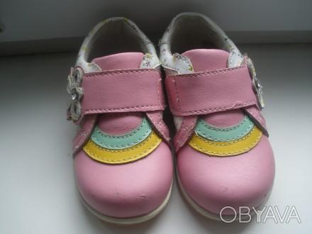 Продам красивые кожаные ботиночки на девочку фирмы Happy Cowboy в очень хорошем . Чернигов, Черниговская область. фото 1