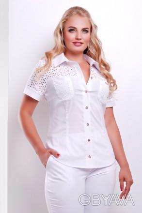 23bf96cd3d8 ᐈ продам блузка белая нарядная большого размера ᐈ Запорожье 420 ...