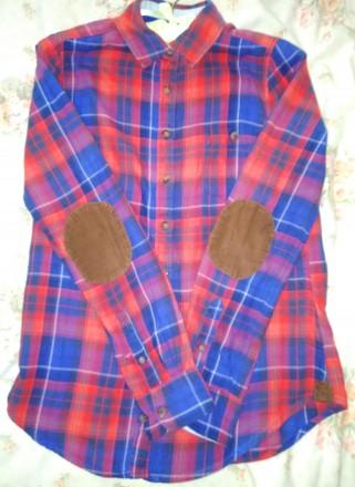 Хлопковая рубашка в клетку. Размер XS.. Знаменка, Кировоградская область. фото 3