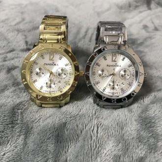 Женские наручные металлические часы золотые серебристые с черным. Киев. фото 1