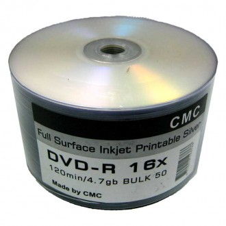 CD-R, DVD-R, DVD-R DL, BD-R чистые диски для печати фирмы CMC, Alerus. Киев. фото 1