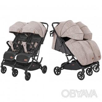 Если вы счастливые родители двойни, то коляска CARRELLO Presto Duo CRL-5506 стан. Одесса, Одесская область. фото 1