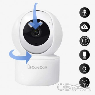 Беспроводная поворотная IP камера WiFi microSD CareCam 23ST позволит быть в курс. Одесса, Одесская область. фото 1