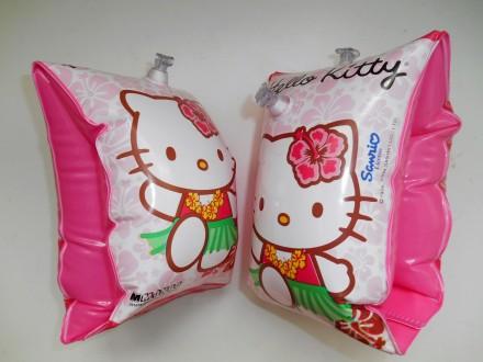 Надувные манжеты для плавания Hello Kitty  Размер : 24 х 14 см. Рассчитаны на в. Маріуполь, Донецкая область. фото 3