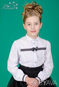 Белые, нарядные блузы на девочек ростом от 122 до 152см. Красивые блузы с длинны. Северодонецк, Луганская область. фото 7