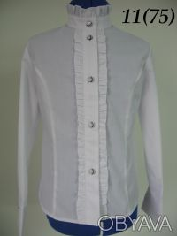Белые, нарядные блузы на девочек ростом от 122 до 152см. Красивые блузы с длинны. Северодонецк, Луганская область. фото 3
