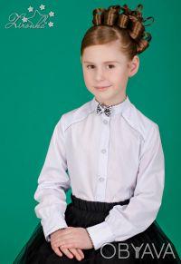 Белые, нарядные блузы на девочек ростом от 122 до 152см. Красивые блузы с длинны. Северодонецк, Луганская область. фото 6