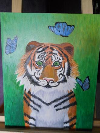 Картина Тигр для дитячої кімнати. Киев. фото 1