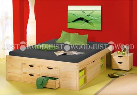 Двуспальная кровать Лето из натурального дерева. Киев. фото 1