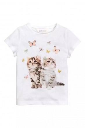 Продам нові футболочки  фірми Н&M та Чілдренплейс на дівчаток від 2-8 рочків. Бердичев. фото 1
