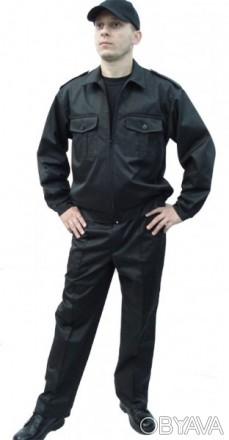 Костюм для охранника на молнии,черный