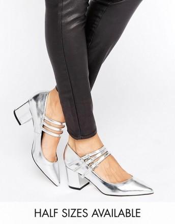 Туфли женские ASOS SABINE серебряные СРОЧНО ПРОДАМ по закупочной цене, не подош. Чернигов, Черниговская область. фото 5