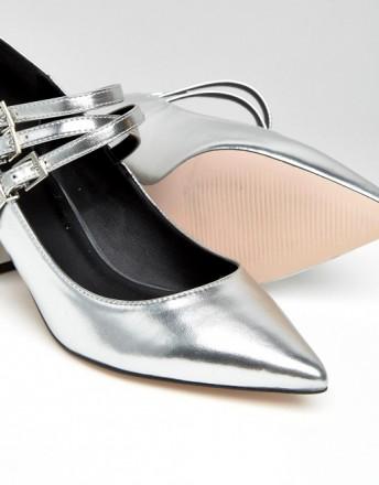Туфли женские ASOS SABINE серебряные СРОЧНО ПРОДАМ по закупочной цене, не подош. Чернигов, Черниговская область. фото 2