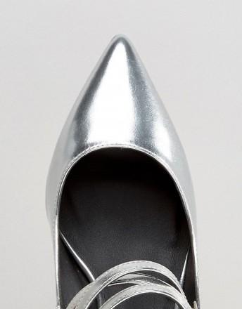 Туфли женские ASOS SABINE серебряные СРОЧНО ПРОДАМ по закупочной цене, не подош. Чернигов, Черниговская область. фото 4