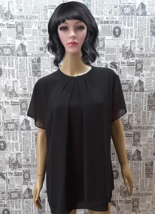 Черная лаконичная блуза – это базовая вещь в любом женском гардеробе. Она подойд. Пирятин, Полтавская область. фото 6