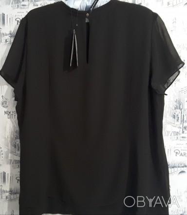 Черная лаконичная блуза – это базовая вещь в любом женском гардеробе. Она подойд. Пирятин, Полтавская область. фото 1