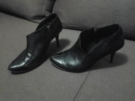 Туфли кожаные - замшевые. Николаев. фото 1