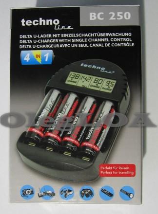Автоматическое зарядное устройство для AA/AAA NiMH Technoline BC-250. Черновцы. фото 1