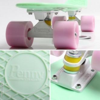 Penny Board Original Pastel 22 Мятный с Лиловыми Колеса с гравировкой. Киев. фото 1
