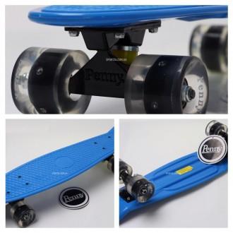 Penny Board Original 22 синяя дека и светящиеся колеса видео обзор. Київ. фото 1
