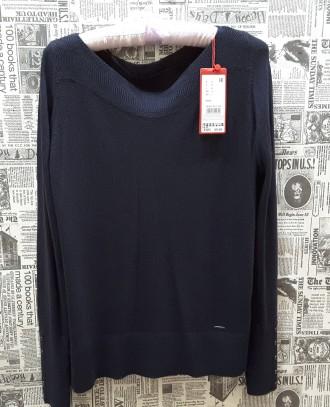 Чудесный джемпер тёмно - синего цвета от немецкого бренда S.Oliver покоряет с пе. Пирятин, Полтавская область. фото 4