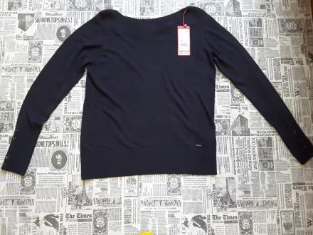 Чудесный джемпер тёмно - синего цвета от немецкого бренда S.Oliver покоряет с пе. Пирятин, Полтавская область. фото 6