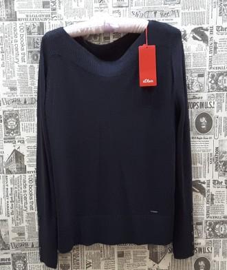 Чудесный джемпер тёмно - синего цвета от немецкого бренда S.Oliver покоряет с пе. Пирятин, Полтавская область. фото 3