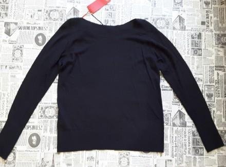 Чудесный джемпер тёмно - синего цвета от немецкого бренда S.Oliver покоряет с пе. Пирятин, Полтавская область. фото 7