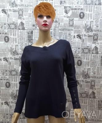 Чудесный джемпер тёмно - синего цвета от немецкого бренда S.Oliver покоряет с пе. Пирятин, Полтавская область. фото 1