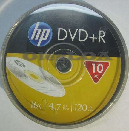 Диски DVD+R HP 16x 4,7Gb cake - 10шт. Черновцы. фото 1