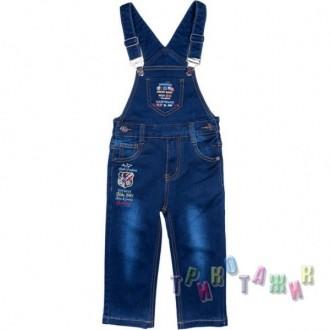 Комбинезон джинсовый для мальчика м.11344. Хмельницкий. фото 1