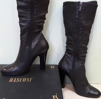 Демисезонные сапоги 35 размера из натуральной черной кожи итальянской фабрики Ba. Пирятин, Полтавская область. фото 4