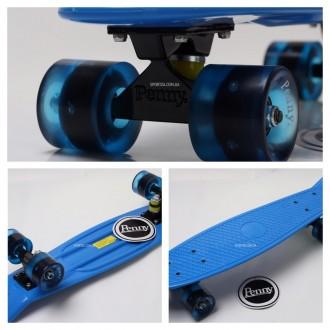 Penny Board Original 22 синяя дека и светящиеся колеса видео обзор. Киев. фото 1