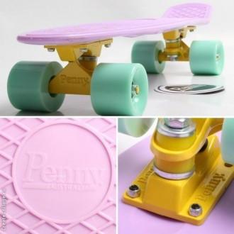 Penny Board Original 22 Лиловая Дека Мятные Колеса с гравировкой. Киев. фото 1