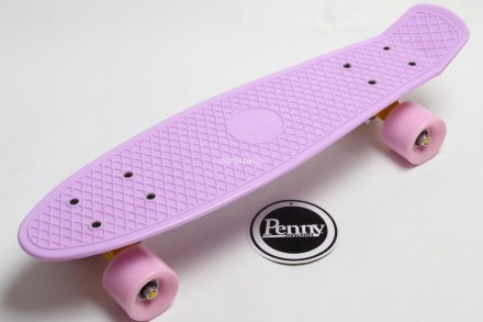 Penny Board Original Pastel 22 Лиловая Дека Лиловые Колеса с гравировкой. Киев. фото 1