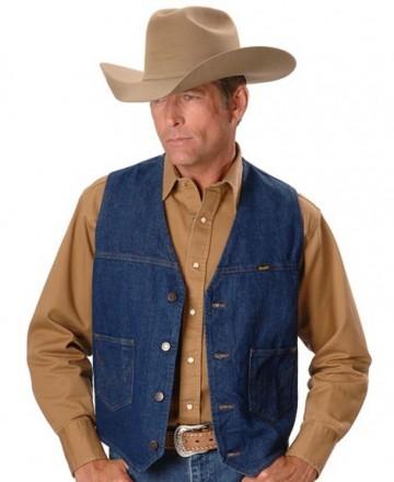 Оригинальный джинсовый жилет Wrangler. Днепр. фото 1