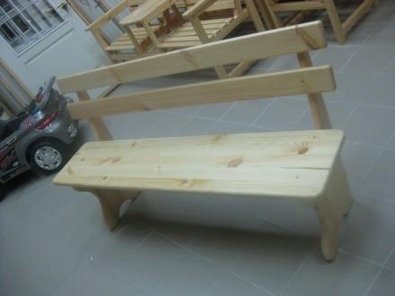Лавки, скамейки деревянные уличные. Днепр. фото 1