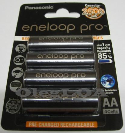 Аккумуляторы Eneloop PRO 2500mah AA R6 Япония 4шт ОРИГИНАЛ. Черновцы. фото 1