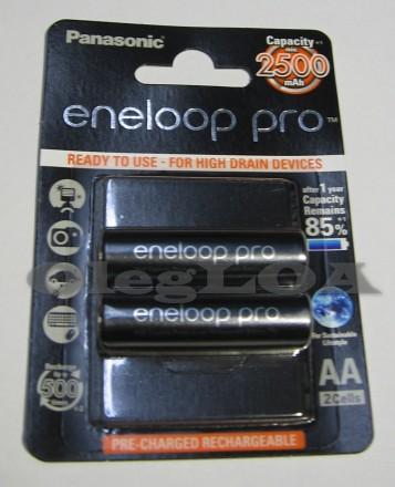 Аккумуляторы Eneloop PRO 2500mah AA R6 Япония 2шт ОРИГИНАЛ. Черновцы. фото 1