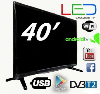 "Новый SMART TV Led телевизор Backlight TV L40"" ANDROID,HD Ready. Херсон. фото 1"