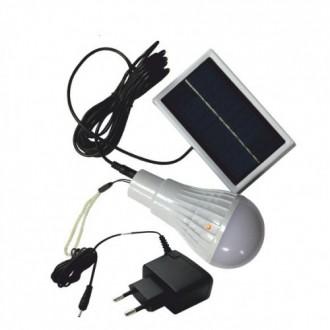 Экономная LED лампа с аккумулятором и солнечной зарядкой.. Николаев. фото 1