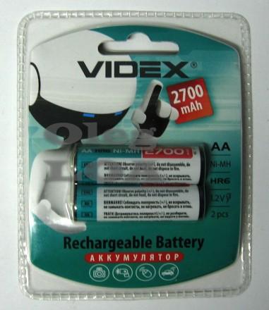 Аккумулятор пальчик Videx R6 AA 2700 mAh NiMH - 2шт. Черновцы. фото 1