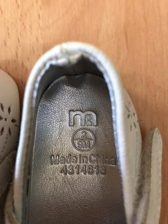 Очень красивые пинетки для модницы,размер указан 9мес,новые. Орехов, Запорожская область. фото 7