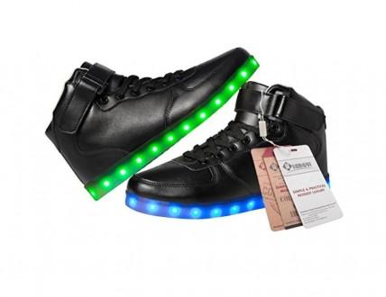 Светящиеся LED кроссовки с подзарядкой USB. Киев. фото 1