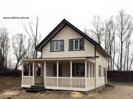 Дачные домики из дерева.Утеплённые для любого времени года.От 3000грн за м/кв.Ва. Киев, Киевская область. фото 2
