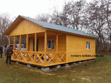 Дачные домики из дерева.Утеплённые для любого времени года.От 3000грн за м/кв.Ва. Киев, Киевская область. фото 7