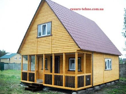 Дачные домики из дерева.Утеплённые для любого времени года.От 3000грн за м/кв.Ва. Киев, Киевская область. фото 4