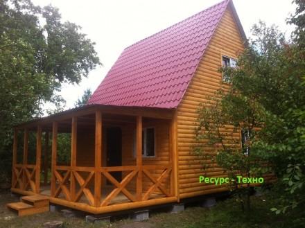 Дачные домики из дерева.Утеплённые для любого времени года.От 3000грн за м/кв.Ва. Киев, Киевская область. фото 5