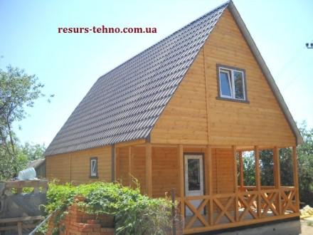 Дачные домики из дерева.Утеплённые для любого времени года.От 3000грн за м/кв.Ва. Киев, Киевская область. фото 10