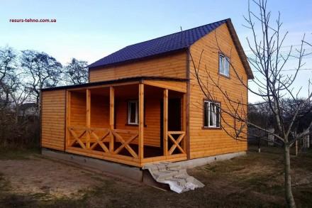 Дачные домики из дерева.Утеплённые для любого времени года.От 3000грн за м/кв.Ва. Киев, Киевская область. фото 9